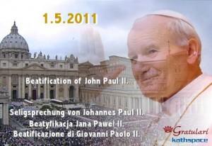E-Card zur Seligsprechung, Ecard of the Beatification