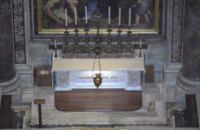 Webcam der Grabstätte von Johannes Paul II.