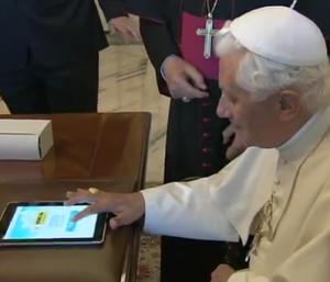 Papst Benedikt XVI. online, Bild: kathspace.com/papst.co