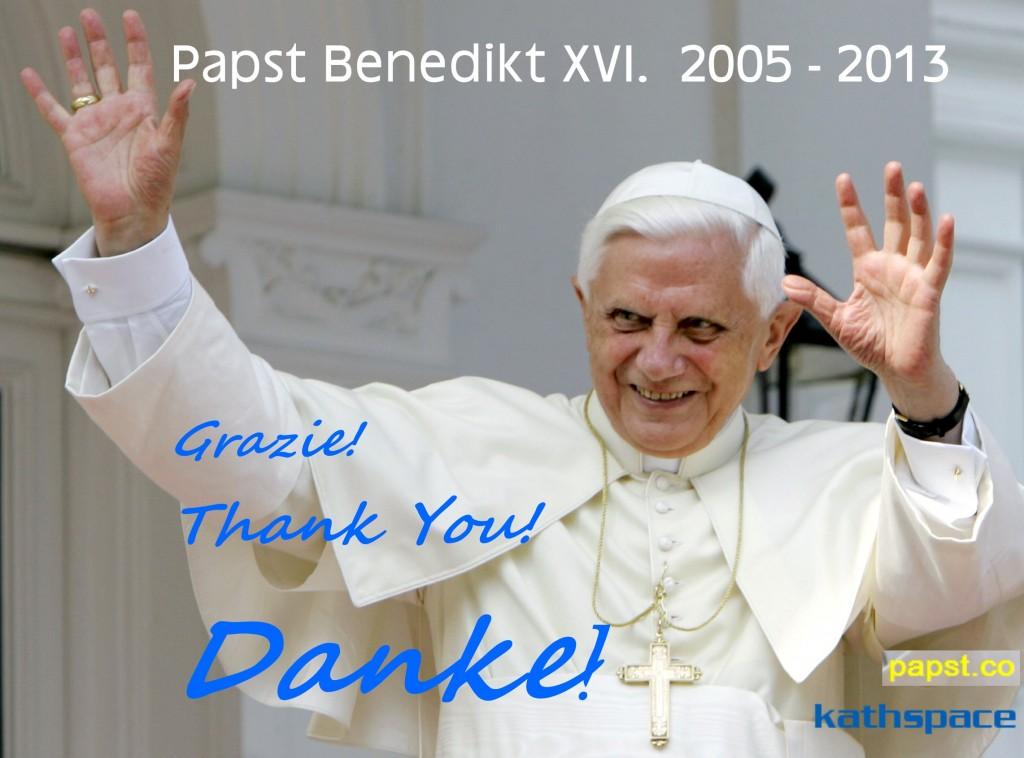 Papst Benedikt XVI. danke, grazie, thank you